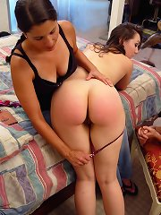 Girlfriend was spanked otk