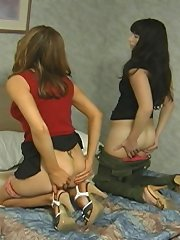 Paddling of two teen girls