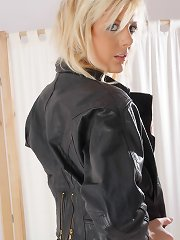 Such appealing sight on this doeskin coat imperceivable blonde