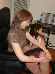 Teen girl gets spanked by hand otk