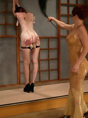 Redhead slave gets whipped and tormented
