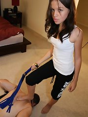 Mistress whipped and trampled malesub
