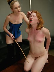 Severe caning of ass and tits