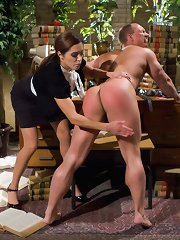 Mistress Francesca Le does CFNM, neb worship, OTK spanking, strap-on anal sex again cum eating recipe adumbrate velocity boy slaveboy