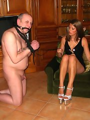 Foot dominated and humiliated malesub