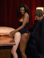 Nyomi Banxxx cuckolds her well-seasoned boyfriend eclipse the biggest cock blonde has too seen