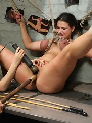 Local gal is behind on her bills and acquires sucked into a obscene world of lesbian smut, BDSM, fetish sex and torment