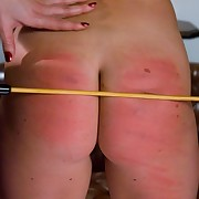 Depending Girl caned and fucked by lesbian.