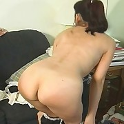 Female spanking and dildo having it away