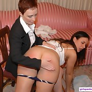 Two chicks got spanked