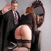 The boss spanked hot secretary