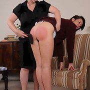 The headmistress paddled bad schoolgirl