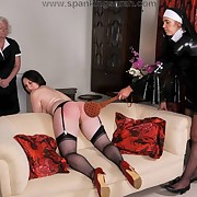 Handsome miss has her keister flogged