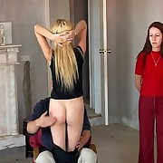 Young Russian sweetie is getting OTK spanking at home