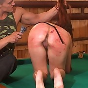 Brutal submissive spanking