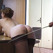 Hard caning be useful to mature slut