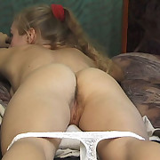 Pretty teens punished at home