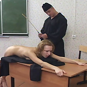 Caning of blonde babe