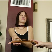 Prurient dame has ruthless whips on her fannies