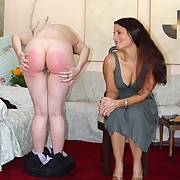 Female over the knee spanking