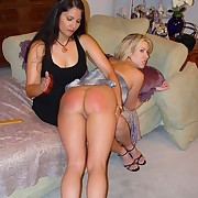 Pretty blondey gets spanked