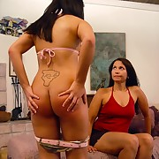 Awesome lady gets her posterior welted