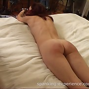 Young cuffed chick having her first thrashing withstand