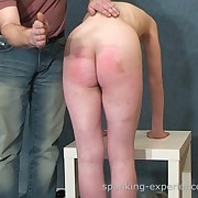 Nice mature going through crazy caning and spanking