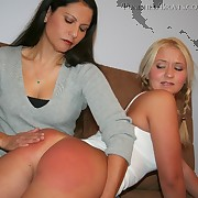 Salacious miss gets hard whips on her nates