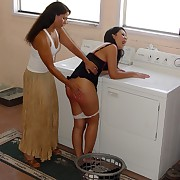Female intense spanking
