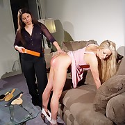Spanking female bottom