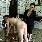 A pair of schoolgirls acquire their nifty booties spanked paddled and caned