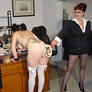 Charming femme has her rear whipped