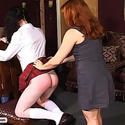 Mistress Gemini hands out harsh punishment to two wicked schoolgirls