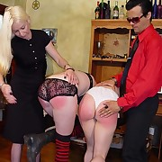 Pair of kinky punk chicks savagely paddled and caned