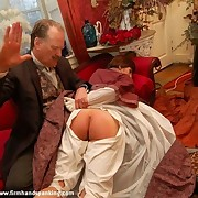 Bad lady was spanked otk by husband
