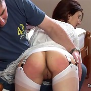 Transmitted to redhead slut getting spanked