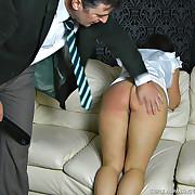 On dinner spanking slaps hard