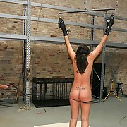 Girl blindfolded and whipped