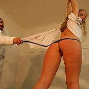 Whipping of bad blonde
