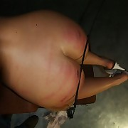 Sadistic whipping of blonde