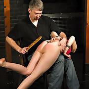 Hard paddling and hand spanking