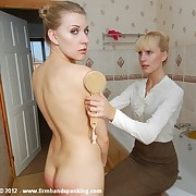 First fully-nude whisk broom disciplining for Belinda Lawson handy school for hypocritical