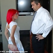 290-smack spanking and 36 with a tie in is a laborious duty of Katherine St James