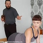 43 hard strokes with a strap for Leia-Ann Woods as A interrogation training