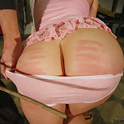 Nicole's sweet pussy with an increment of ass were spanked hard.