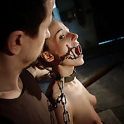 Chained and brutal punished Amy is a sure submissive mind.