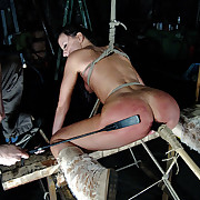 A captive girls was tied, fucked by machine and punished