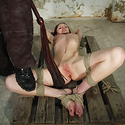 Merciless cruel breast and pussy whipped Lola.