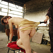 Lola floosie is whipped by rubber whip